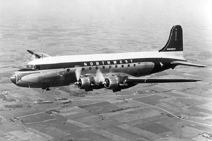 A DC-4 Aircraft Northwest Airlines Flight 2501